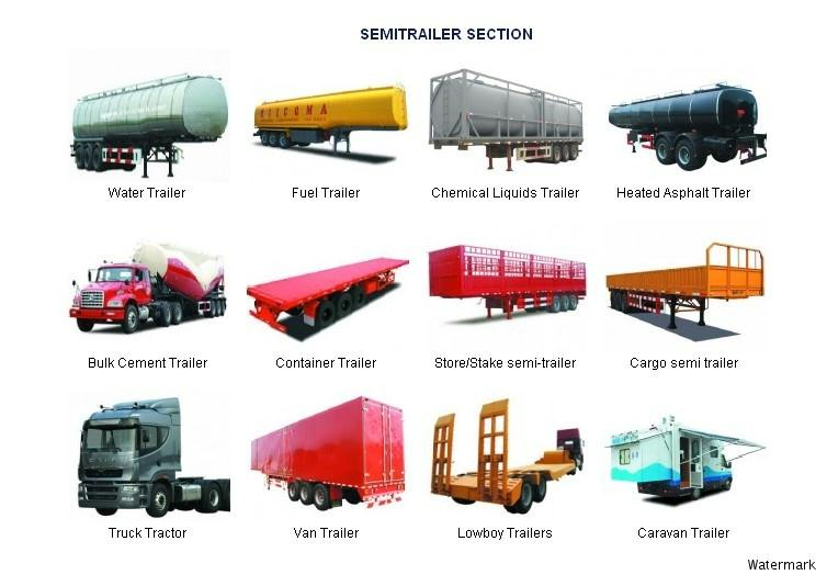 Types Of Tractor Trailers : Yuchai dongte special purpose automobile co ltd