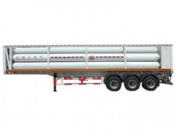 China supplier 6 or 8 tubes CNG cylinder tanker trailer